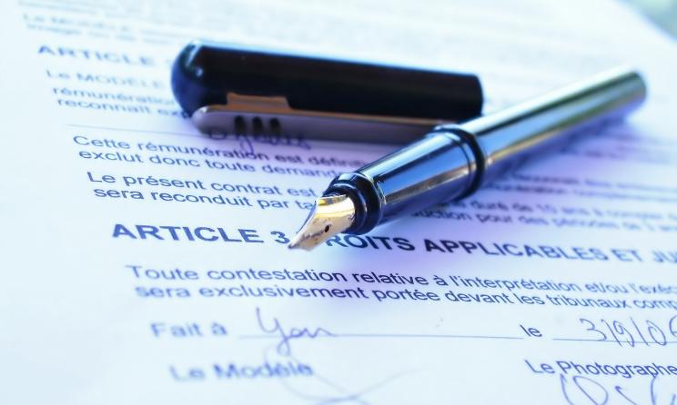modèle d'un contrat (c) www.le-pongiste.com