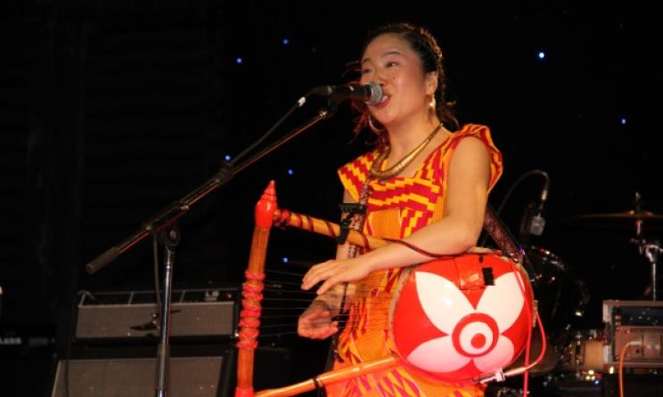Anyango performing at The GoDown Arts Centre, Nairobi