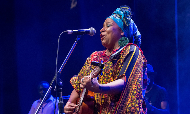 Mim Suleiman at Sauti za Busara 2015. Photo by Peter Bennett.