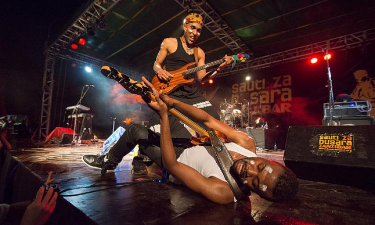 A live performance at the 2012 Sauti za Busara Fest. Photo by Busara Promotions.