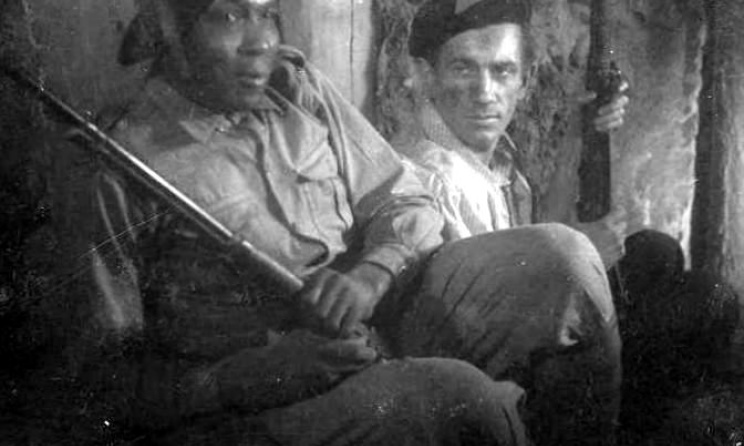 August Browne in the uniform of the Polish resistance in 1944.