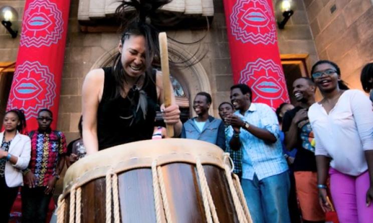 DJ Juri (Japan) at the HIFA opening party. Photo: Tinashe Njagu