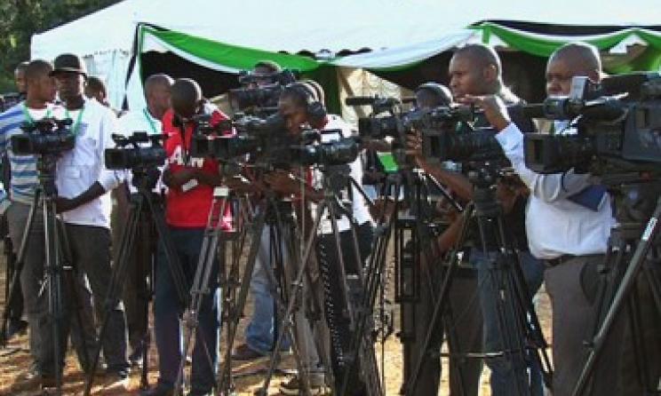 Kenyan journalists at work