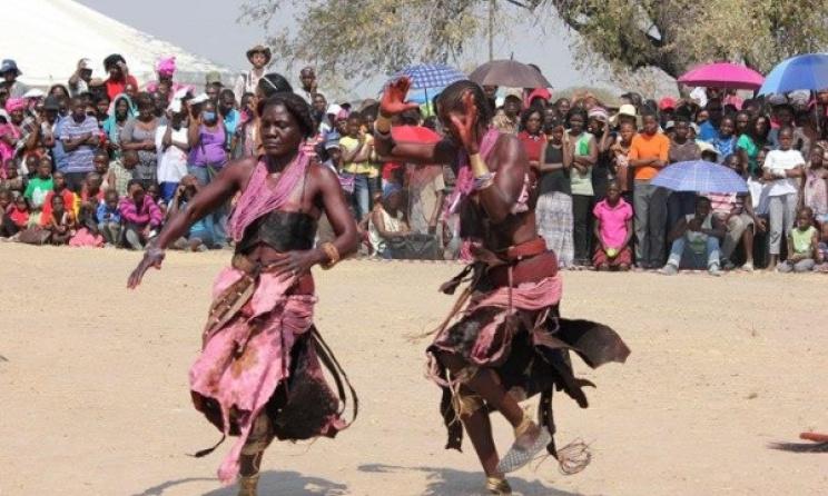 Older women performing ouvano at Olufuko.