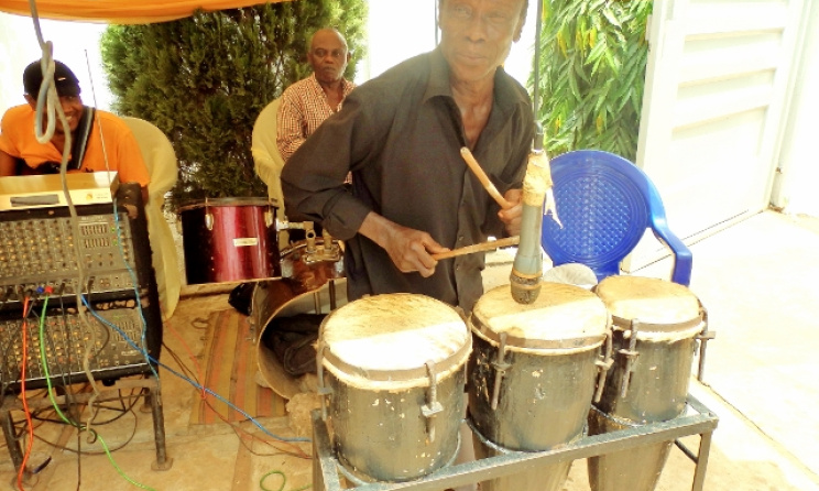 86-year old percussion legend Tony Odili