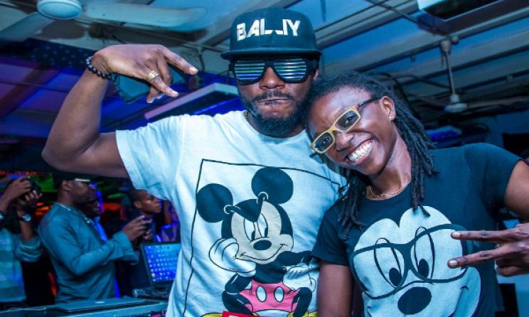 DJ Bally (left) and Derin Ajao. Photo: Jere Ikongio