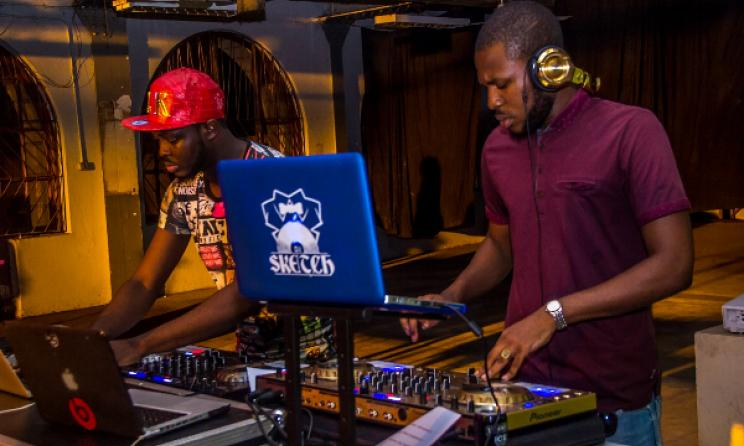 DJ Sketch (right). Photo: Jere Ikongio