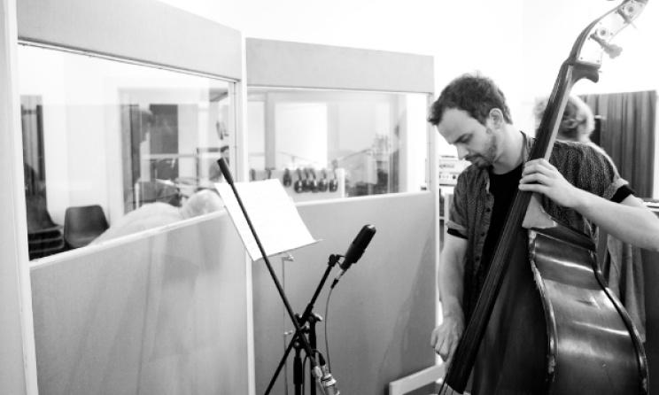 Shane Cooper in studio.