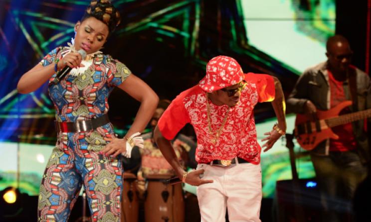 Yemi Alade (Nigeria) & Diamond (Tanzania) performing on Coke Studio Africa. Photo: cybertechz.com