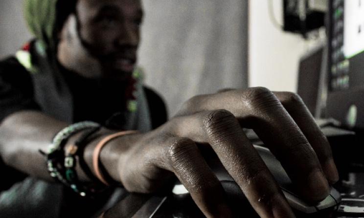 KBG in the Nyali Muzik studio in Lilongwe. Photo: Njabulo Dzonzi