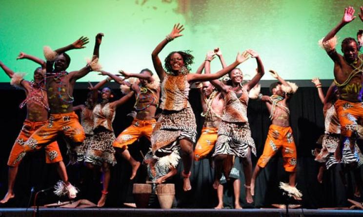 Acholi dancers during a live performance. Photo: www.godslittlegiantkiller.blogspot.com