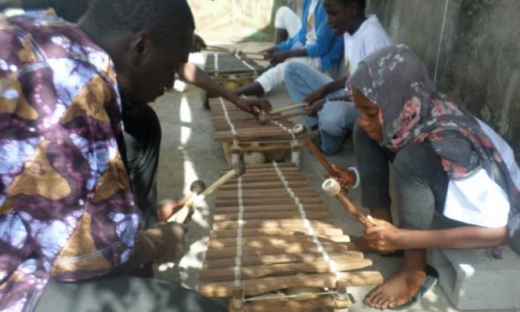 Students at the Amadu Bansang Jobarteh School of Music. Photo: Facebook