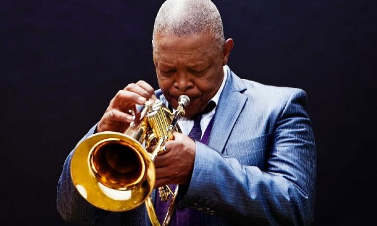 South African trumpeter Hugh Masekela. Photo: Brett Rubin/getsumgood.com