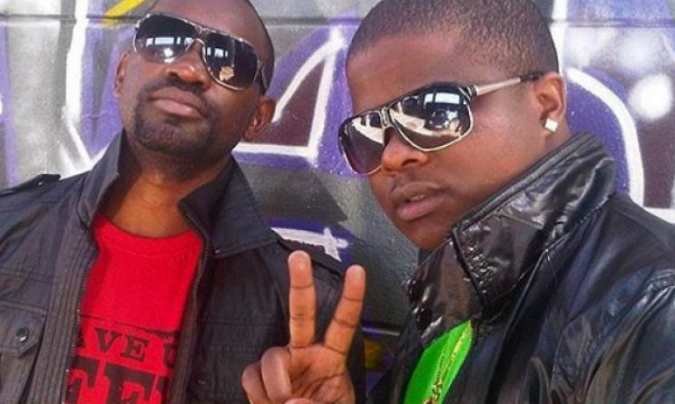 Urban Grooves producer TBA (left) with Nox Guni. Photo: nehandaradio.com
