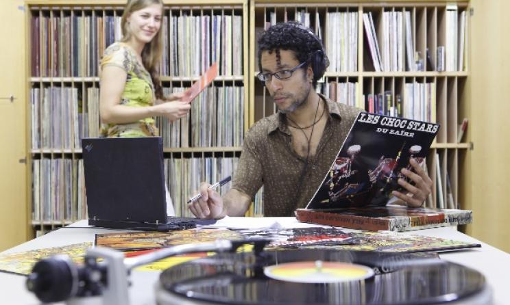 Inside the African Music Archives (AMA) in Germany. Photo: Thomas Hartmann / www.uni-mainz.de
