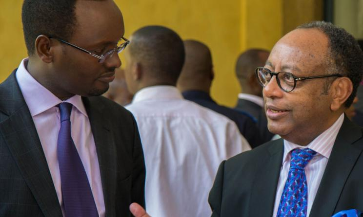 Rwanda's Ministry of Trade Permanent Secretary Emmanuel Hategeka and WIPO Director Kifle Shenkoru. Photo: www.newtimesrwanda.com