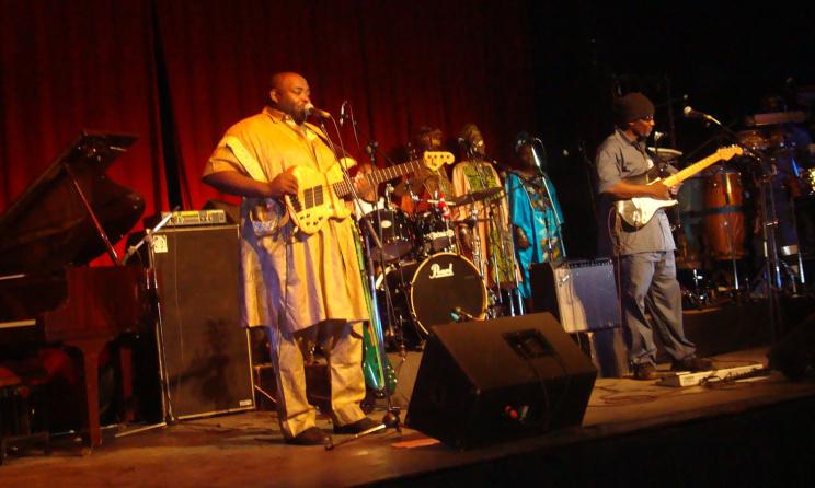 Le groupe Macase lors d'un concert à l'Institut Français du Cameroun. (ph) Blog - Parfait Tabapsi