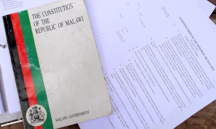 Malawi's Constitution. Photo: www.jhr.ca