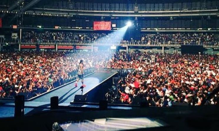 Cassper Nyovest at the TicketPro Dome in Johannesburg on 31 October. Photo: Twitter