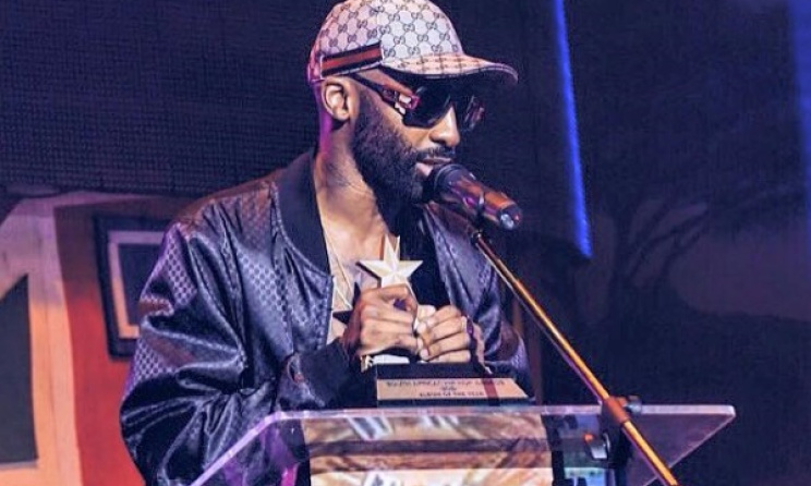 Riky Rick accepts on of his two SAHHA awards. Photo: Facebook