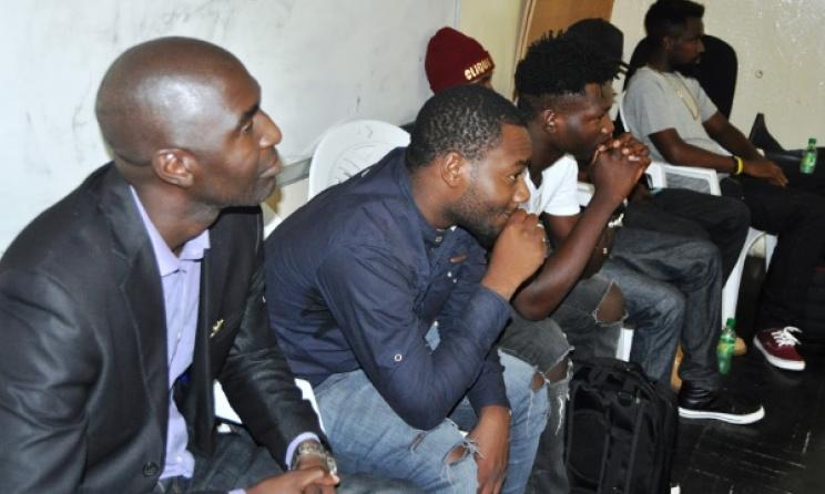 Zambian music professionals listen closely at the workshop. Photo: Joseph Tembo / joetembo.blogspot.co.za