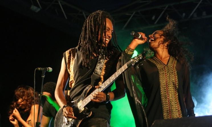 Ethiopian band Jano. Photo by Sisay Guzay