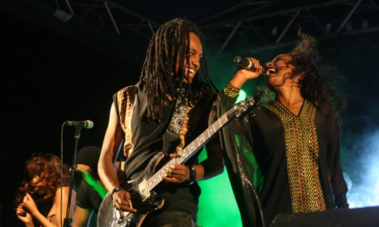 Ethiopian band Jano. Photo by Sisay Guzay