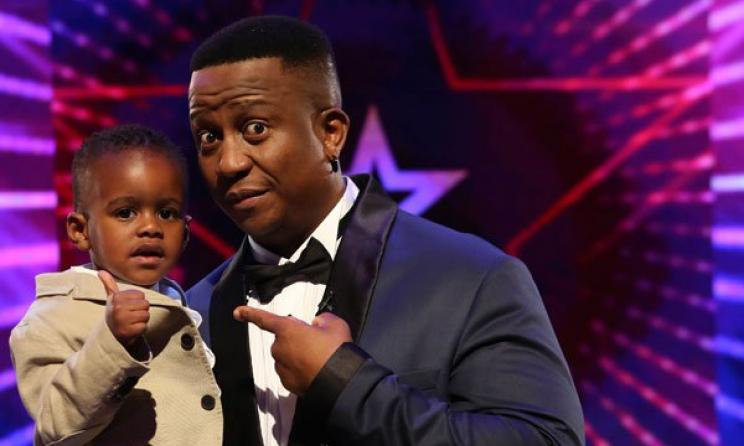 Last year's SA's Got Talent winner DJ Arch Jnr. with judge DJ Fresh. Photo: etv.co.za