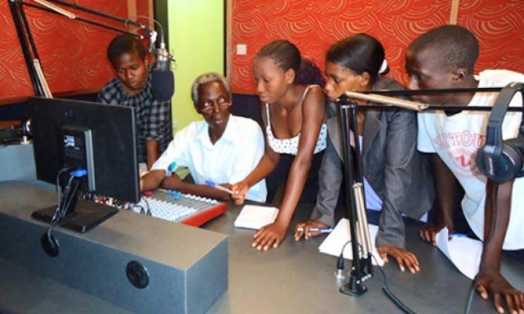 Community radio station in Lukulu District, Zambia. Photo: www.diakonia.se