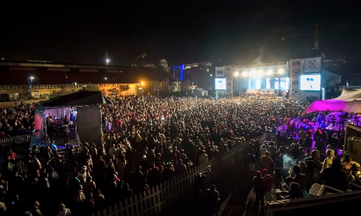 The audience at last year's Back To The City in Newtown, Johannesburg.