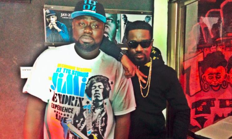 L-R: DJ Black and rapper Sarkodie