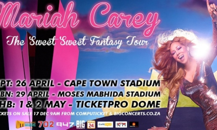 The poster for the upcoming South African dates of the Sweet Sweet Fantasy tour.