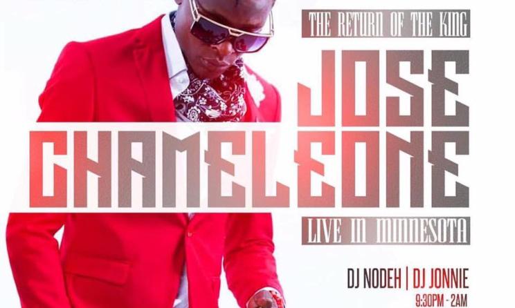 Jose Chameleon's concert flyer