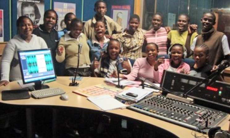 Recording a children's radio show in Swaziland. Photo: news.bbc.co.uk