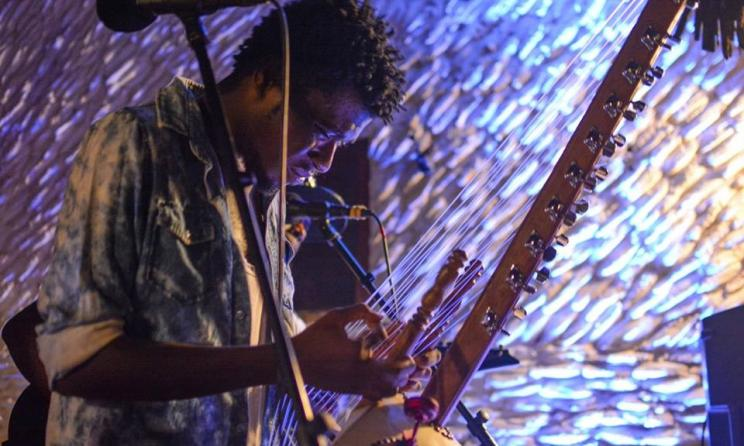 Tanzanian artist Swahili Ally during a recent performance. Photo: Alice Bensi