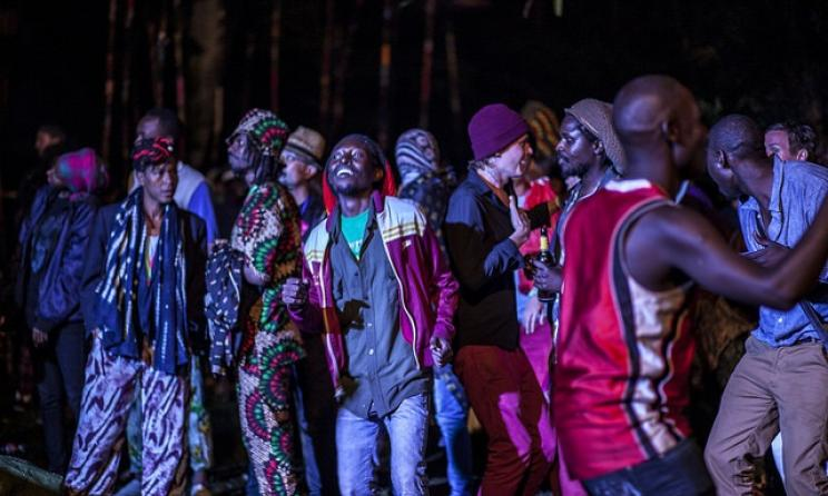 Fans enjoy music at the 2015 Nyege Nyege Festival. Photo by Nekane R.de Ozamiz