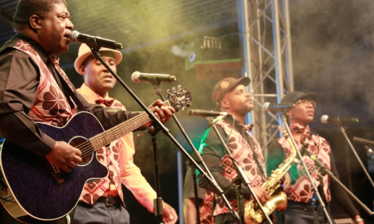 Ghorwane from Mozambique, fronted by Roberto Chitsondzo. Photo: Dave Durbach / Music In Africa