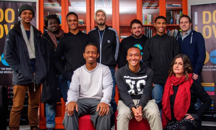 The 2016 SAE Institute scholarship winners with SAE staff in Cape Town. Photo: supplied