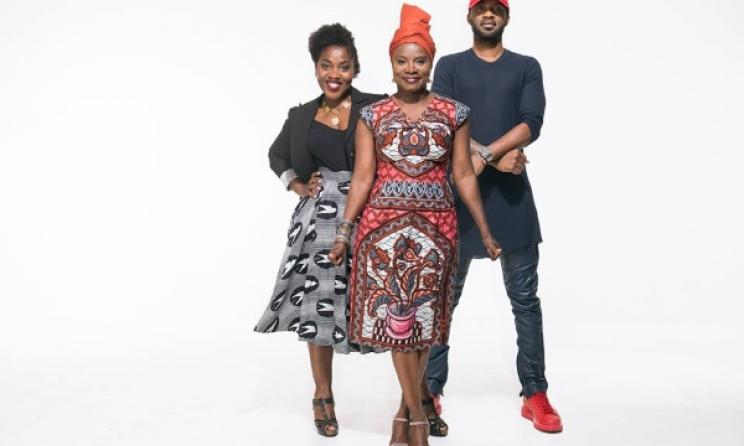 Claudia Tagbo, Angélique Kidjo et Fally Ipupa. (Photo) A. Kidjo Facebook Officiel