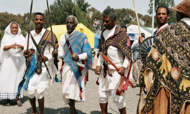 Eritrean dancers from the Tigrinya ethnic group. Photo: www.explore-eritrea.com