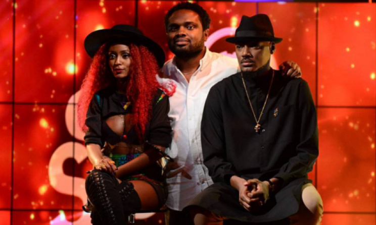Vanessa Mdee, 2baba and Cobhams Asuquo during Coke Studio Africa III. Photo: www.hbr.co.ke