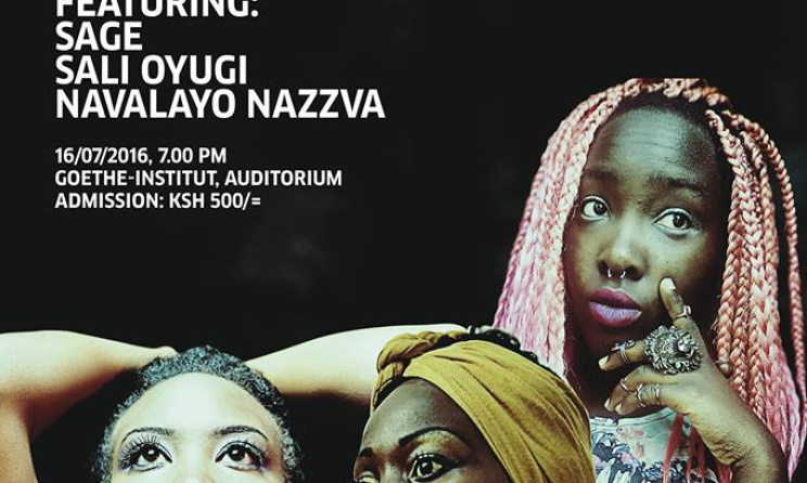 The poster for the July edition of 'Women in Music' in Nairobi.