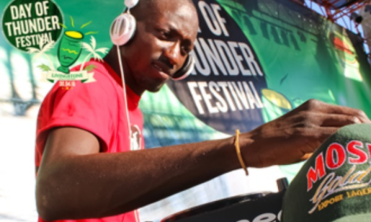 A DJ spins at an event sponsored by Zambian Breweries, the Mosi Day of Thunder. Photo: Facebook