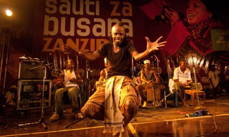 Performances at a past Sauti Za Busara Festival. Photo by Peter Bennet