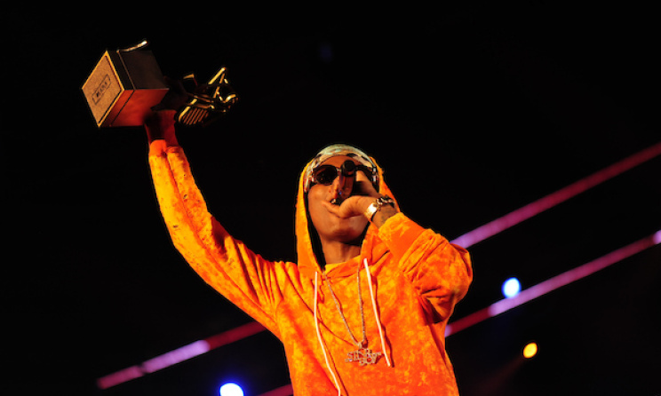 Nigeria's Wizkid accepts one of his MAMAs.   Photo: © MTV Africa Music