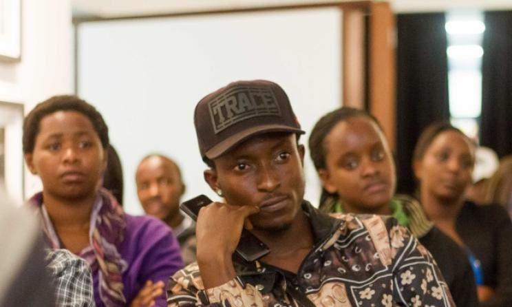 Audience members listen to a discussion on Kenyan music. Photo: Julian Manjahi