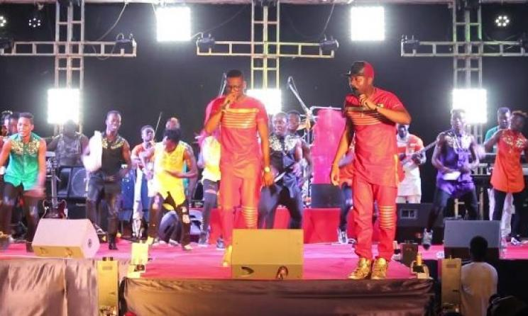 (Photo) Togolese artists on stage.