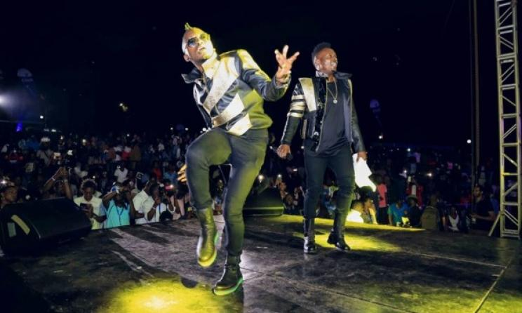 Sauti Sol During a performance. Photo: Sauti Sol's Facebook Page