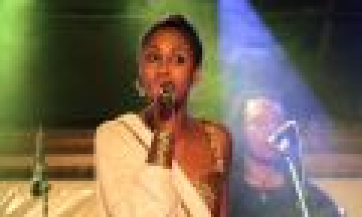 Ethiopian singer Betty G on stage