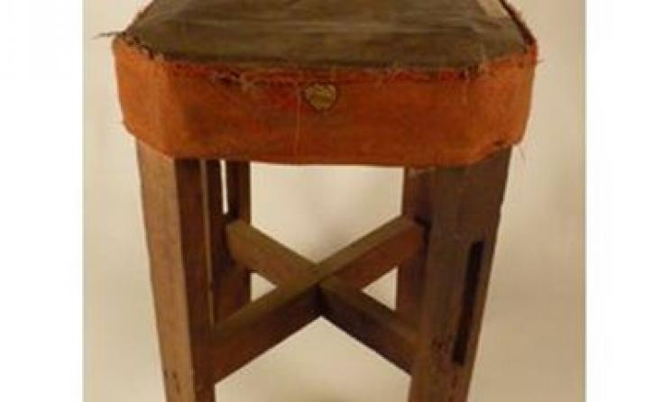 Improvised gumbe drum. Photo: Sierra Leone Heritage
